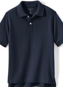 New Kids Navy Blue Short Sleeve Mesh Polo Shirt
